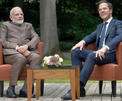 PM Modi visits Netherlands, meets PM Mark Rutte