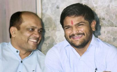Hardik declares support to Congress in Gujarat polls