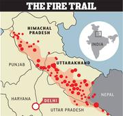 Forest fire reaches Kasauli boarding school, students evacuated