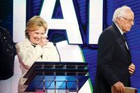 Bernie Sanders fans shower Hillary Clinton car with $1 bills