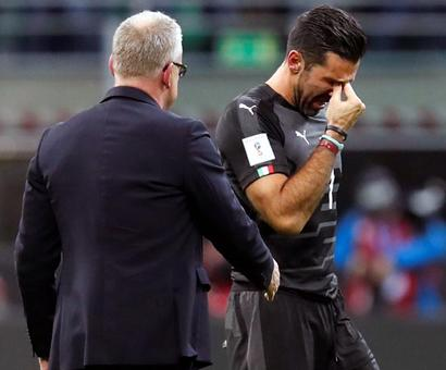 Teary farewell for Buffon after Italy's World Cup failure
