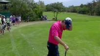 Golf fan lands on blooper reel after hilarious fall