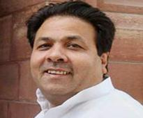 Rattled IPL chief Rajiv Shukla prays at Vrindavan temple