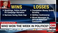 CNN Counts Bombings and Protests Over Police Shootings as Political Wins This Week for Trump