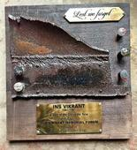 Plaque made from Vikrant metal to adorn new avatar