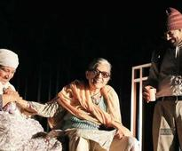 Naseeruddin Shah and Ratna Pathak Shah stage their play in Delhi