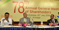 J&K Bank holds 78th AGM, approves 175% dividend to its shareholders