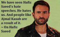 Pak artists in India: Saif Ali Khan's other strong statements on Pakistan, Hafiz Saeed