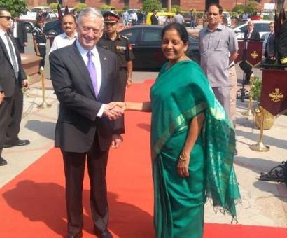 Nirmala Sitharaman meets James Mattis