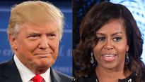 US election: Trump takes aimat first lady Michelle Obama