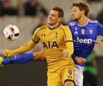Erik Lamela with a goal for Spurs in gold but Juventus on top in Melbourne - in pictures