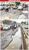 Cratered Jessore Road tests traffic, patience