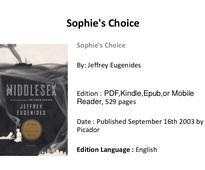 Sophie's choice pdf book