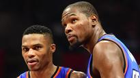 Russell Westbrook laughs off question about Kevin Durant