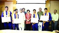 4 divers felicitated for saving peoples lives during excessive rains