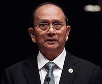Myanmar President Thein Sein arrives at White House