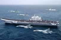 China ushered in the Taiwan Strait, the aircraft carrier