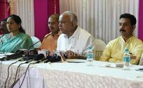 Mangaluru: 'Corrupt' CM Siddaramaiah, K C Venugopal destroying state, says Yeddyurappa