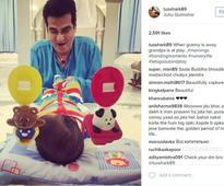 Tusshar shares an adorable pic of son Laksshya with his granddad Jeetendra