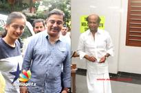 Rajinikanth and Kamal Haasan speech after casting vote