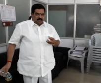 Caught on cam: Congress leader sprinkles petrol in Bengaluru office
