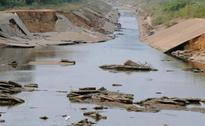 Krishna water canal damaged by floods