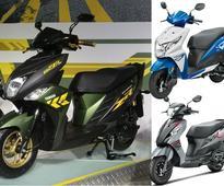 Yamaha Cygnus Ray-ZR vs Honda Dio vs Suzuki Lets: Spec Comparison
