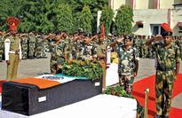 Trooper hurt in firing dies