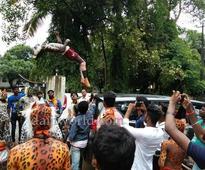 Udupi: Watch - MP Oscar Fernandes shakes a leg with Huli Vesha dancers