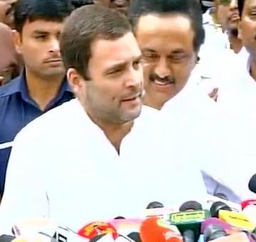 Rahul visits DMK chief Karunanidhi at Chennai hospital