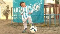 Young Messi fan forced to leave Afghanistan after threats