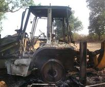 Odisha: Naxal Strike In Rayagada, torched construction machines