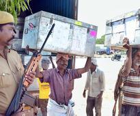 EVMs arrive at Thoothukudi