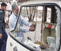 Rickshaw driver killed, two policemen injured