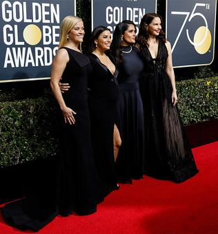 Designers to auction black Golden Globes dresses for #TimesUp
