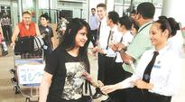 Chandigarh Institute of Hotel Management students welcome tourists at international airport