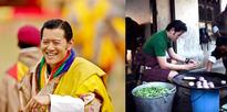 When the King of Bhutan cooked at a community school for children