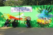 Crematorium walls painted with social messages in Chennai