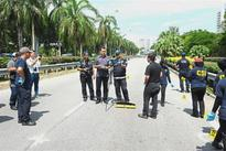Road closed for police sweep