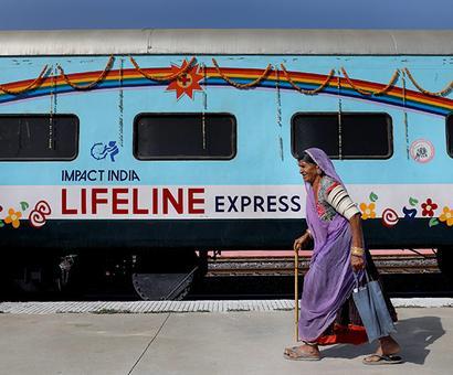 On board the Lifeline Express, world's first hospital train