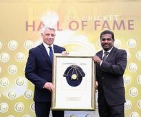 Muttiah Muralitharan becomes first Sri Lankan to be inducted into ICC Hall of Fame