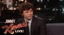 Evan Peters is a 'hot mess' on 'Jimmy Kimmel Live'