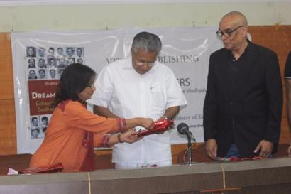 Kerala CM P Vijayan launches Rediff journalist Shobha Warrier's book