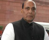 Rajnath Singh meets Om Prakash Chautala in hospital