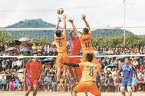 Manipur Police lift Maram volleyball trophy