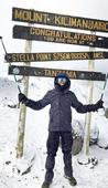 16-yr-old scales Mount Kilimanjaro with a game and persistence