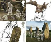 Stamps mark UK's prehistoric treasures