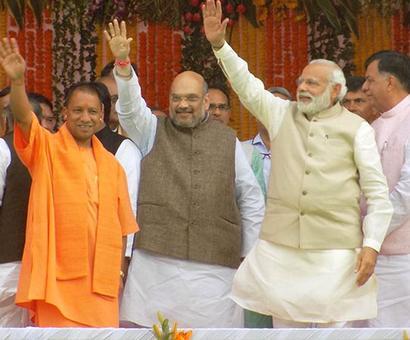 BJP bags 11 Rajya Sabha seats, crushes SP-BSP bonhomie in UP