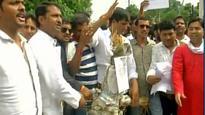 Madhya Pradesh: Youth Congress protest against Bhopal acid attack on teacher