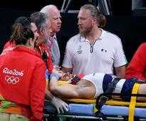 Rio Olympics: Watch Samir Ait Said's horror landing